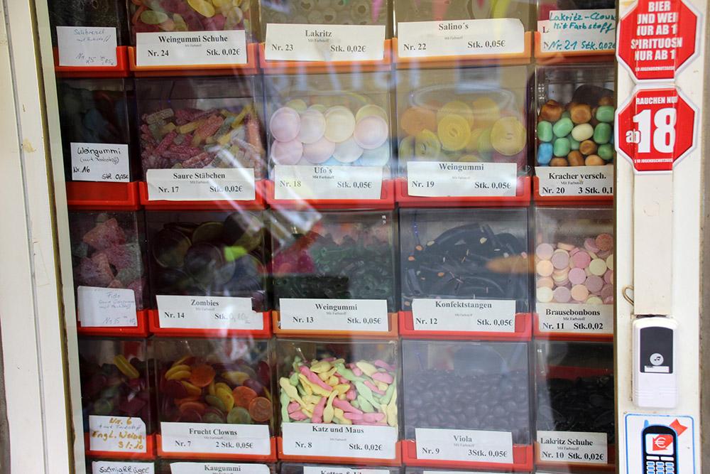 Bonbons in einer Trinkhalle bzw. einem Kiosk im Ruhrgebiet