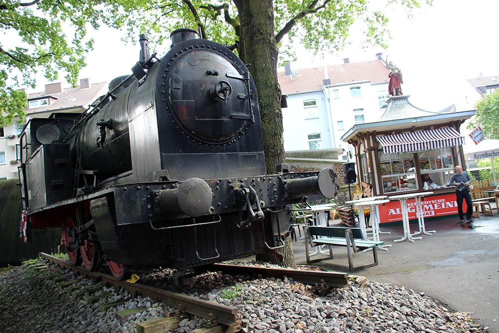 Die Fortuna Bude im Heimatmuseum Herne neben der Dampflok im Ruhrgebiet ist sehenswert