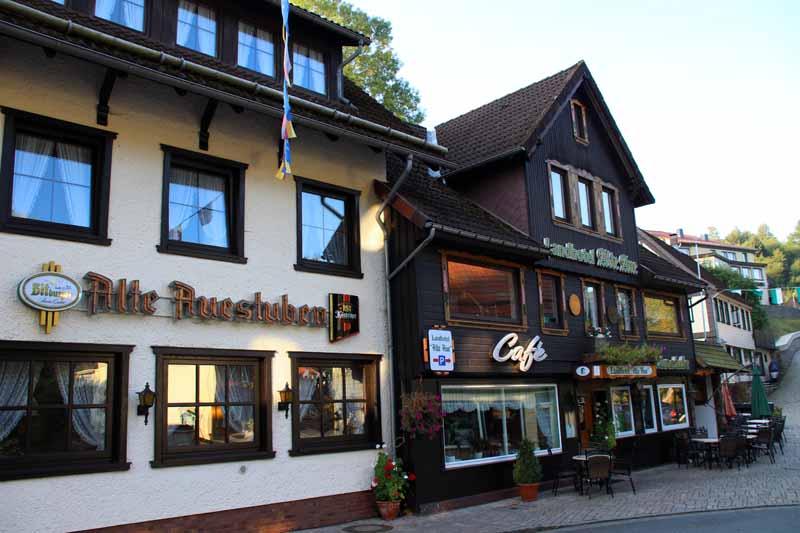 Geschlafen habe ich im Landhotel Alte Aue in Altenau