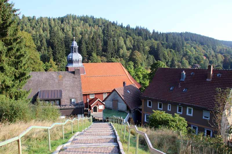Von der Kirche in Altenau hat man eine schöne Aussicht