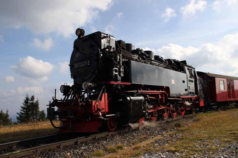 Die Dampfloks der Harzer Schmalspurbahn sind wunderschön