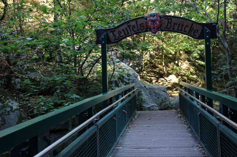Die Teufelsbrücke unweit vom Zentrum Thales