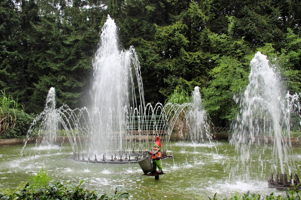 Die Wasserspiele von 1963 im Märchenwald Ibbenbüren begeistern auch heute noch