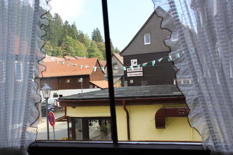 Ausblick aus dem Landhotel Alte Aue