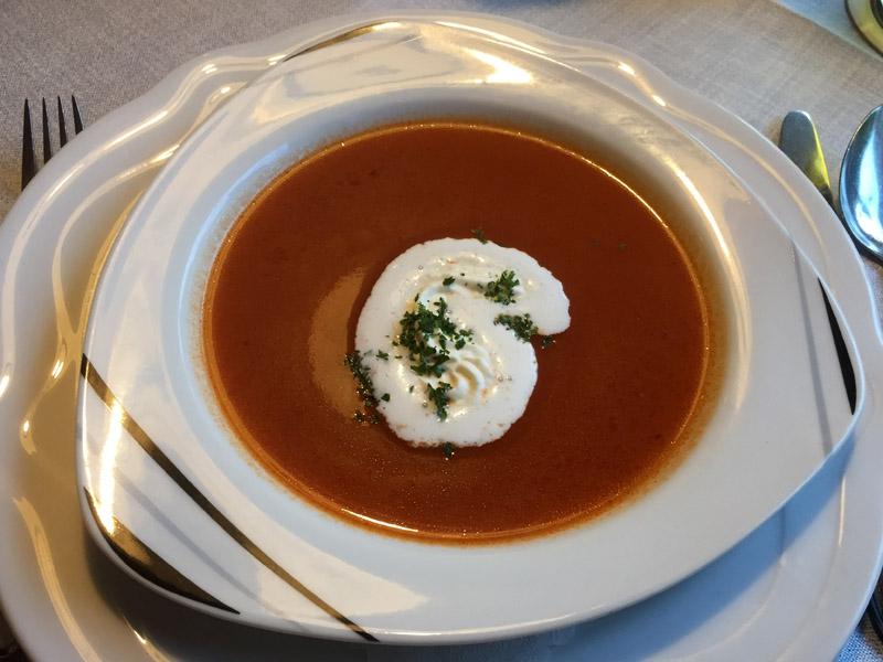Tomatensuppe im Landhotel Alte Aue