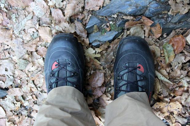 Die Schuhe haben sich auf dem Hexenstieg im Harz gut bewährt