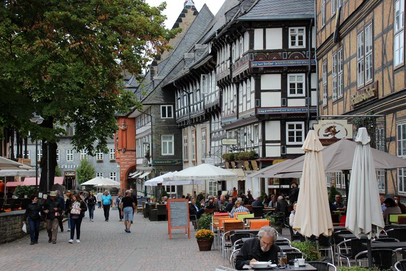 Blick durch das Zentrum Goslars