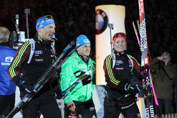 Franziska Hildebrand und Erik Lesser mit Gerald Hönig