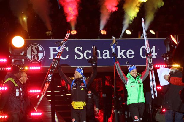 Vanessa Hinz und Simon Schempp sollten später auf Schalke gewinnen