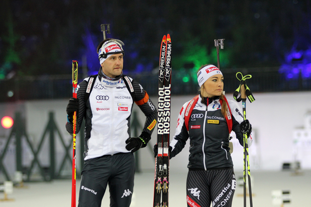 Dorothea Wierer und Dominik Windisch aus Italien