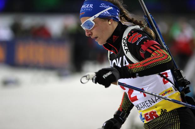 Vanessa Hinz geht konzentriert ins Rennen