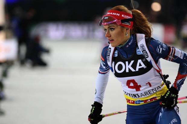 Gabriela Koukalová landet am Ende auf Platz 7