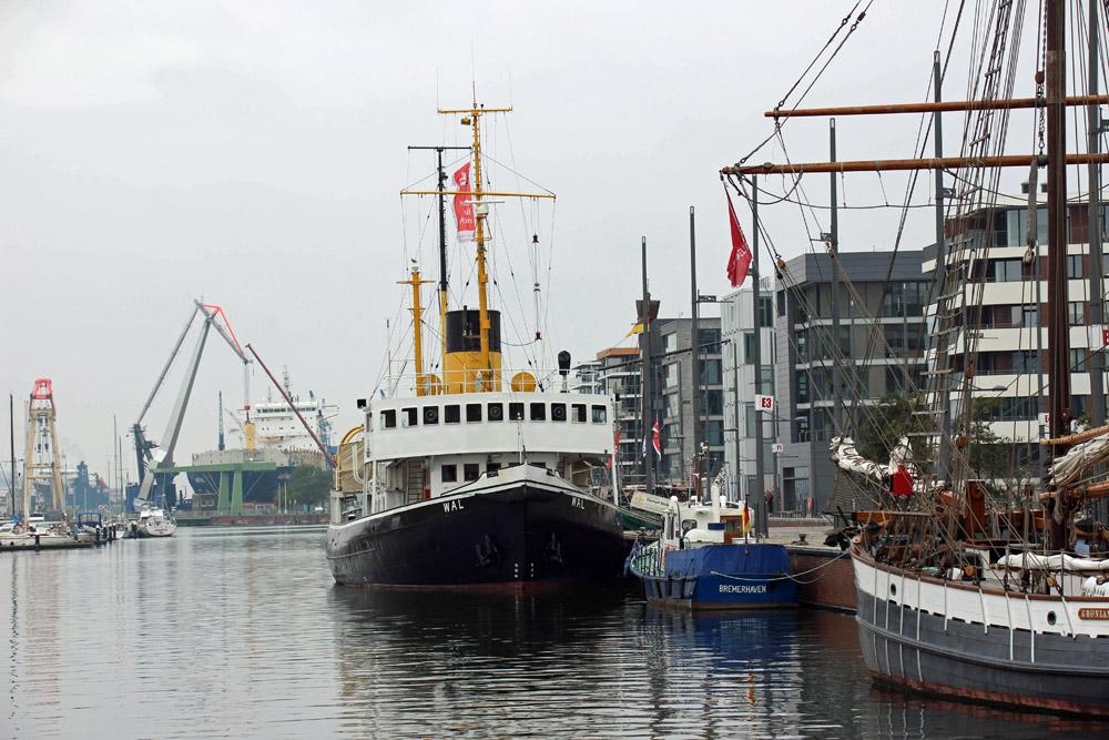 Das Museumsschiff Wal ist eine echte ehenswürdigkeit in Bremerhaven