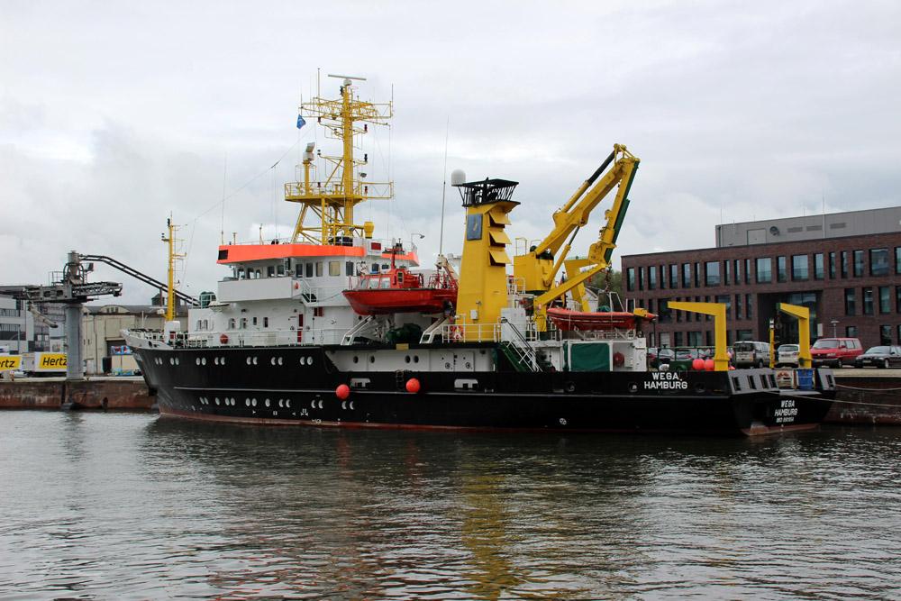 Die Wega Hamburg ist eine Vermessungs-, Wracksuch- und Forschungsschiff