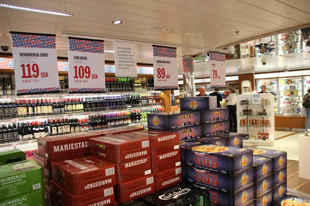 Vor allem Alkohol wird hier gerne gekauft