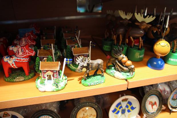 Souvenirs aus Schweden und Göteborg sind ebenfalls reichlich erhältlich
