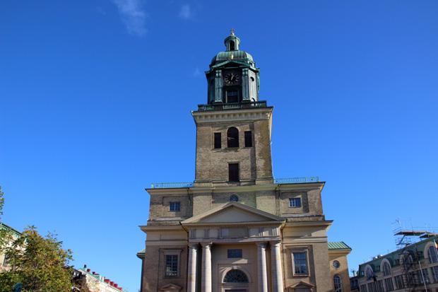 Der Göteborger Dom liegt im Zentrum der Stadt