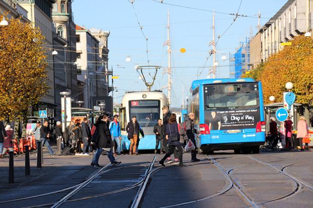 Mit der Straßenbahn kann man sich in Göteborg problemlos fortbewegen