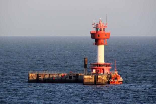 Ein Leuchtturm vor der Kieler Förde