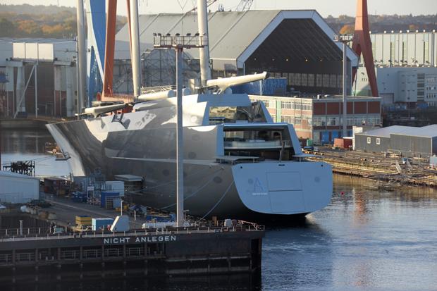 Das größte private Segelschiff der Welt wird gerade in Kiel gebaut