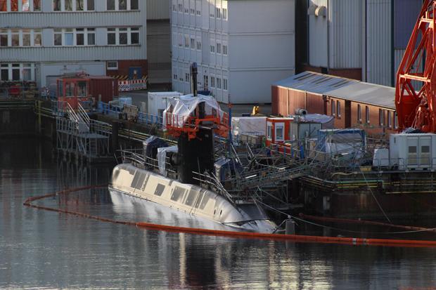Auch U-Boote sind in Kiel zu sehen