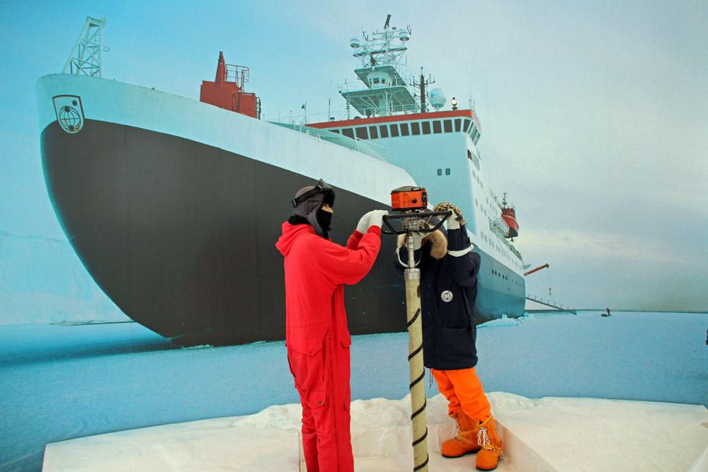 Schiff Seestern als Symbol der Polar- und Meeresforschung
