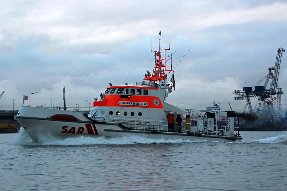 Der Seenotrettungskreuzer Hermann Rudolf Meyer in Bremerhaven