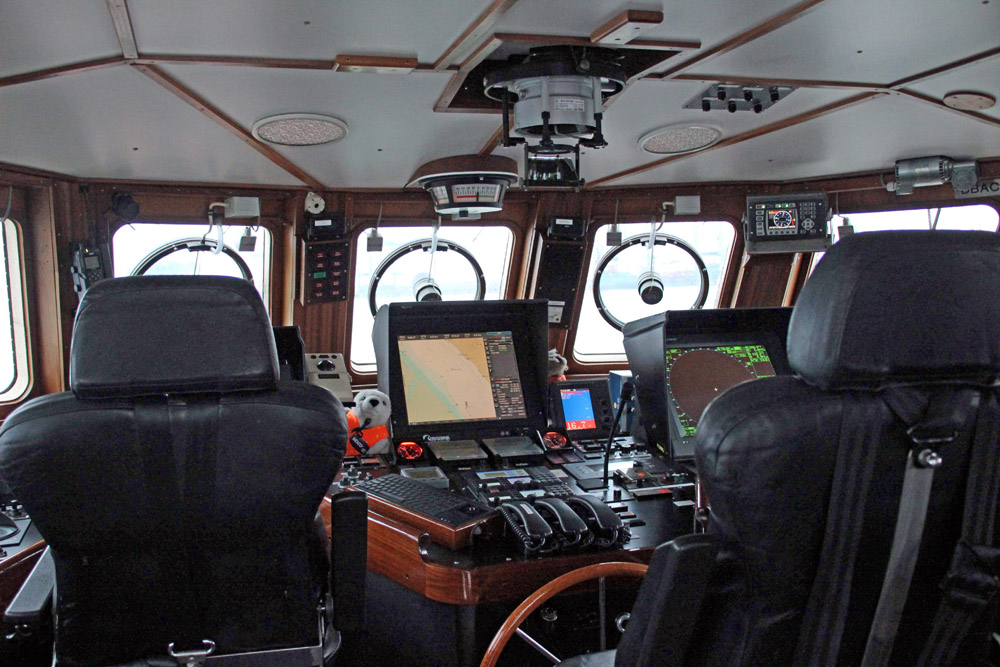 Der Seenotrettungskreuzer von innen