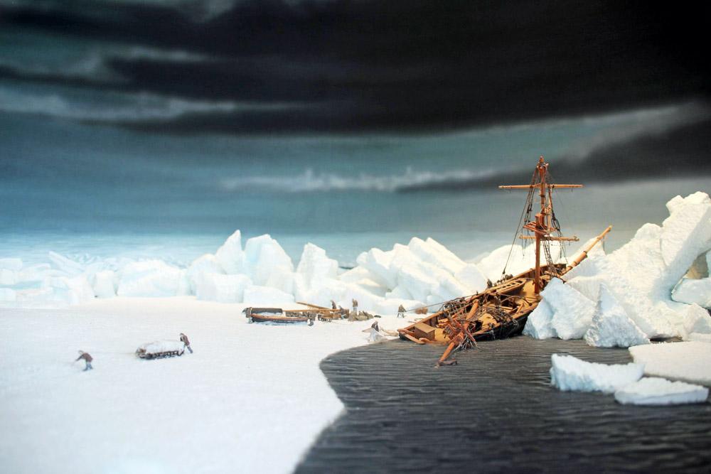 1870 ging das Segelschiff Hansa bei einem Unglück im Eis verloren