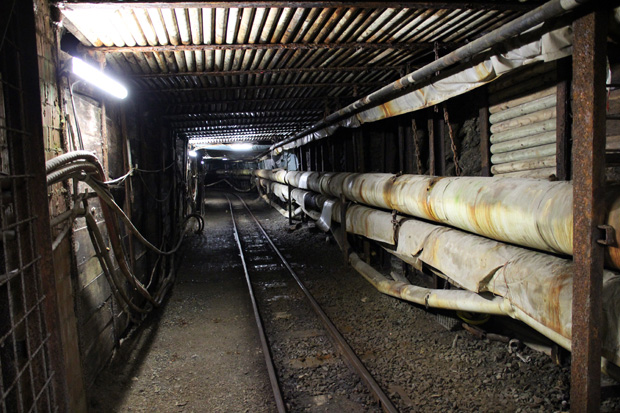 Die Einfahrt in den modernen Teil des Bergwerkes