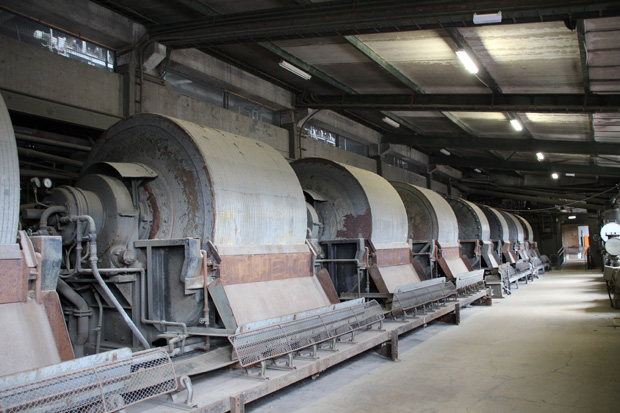 Monströse Maschinen sind in der Erzaufbereitung zu finden