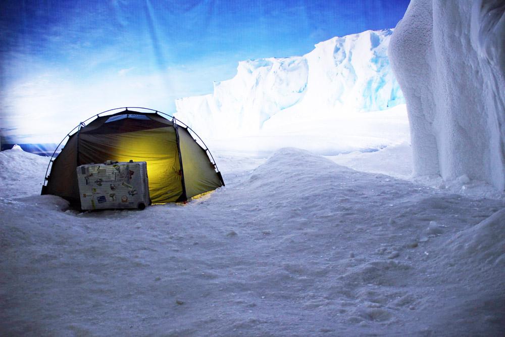 In der Antarktis im Klimhaus Bremerhaven trifft man auf echtes Eis