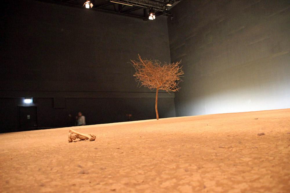 Wüste mit heißen Temperaturen wie im Niger im Klimahaus Bremerhaven