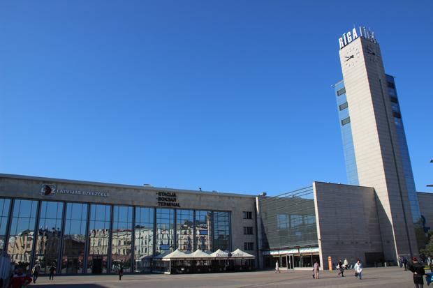 Der Hauptbahnhof in Riga