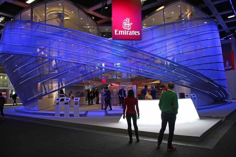 Messestand von Emirates auf der ITB in Berlin