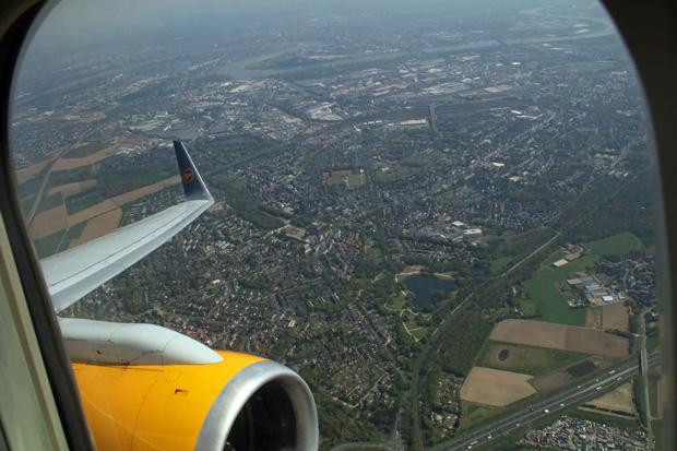 Ein letzter Blick zurück in Richtung Düsseldorf