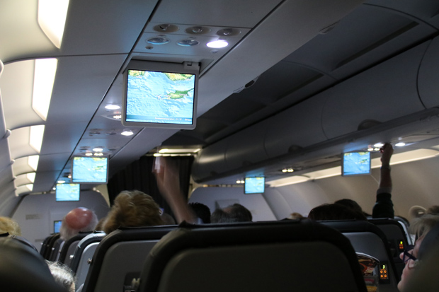 Der Rückflug war relativ ruhig