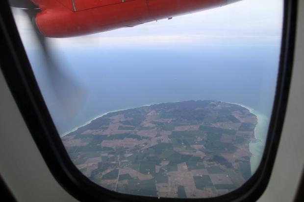 Viel Wasser war auf dem Flug zu sehen