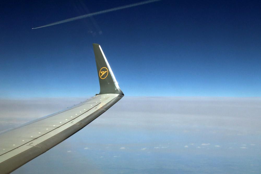 Wolken gab es auf dem Flug mit Condor nach Zypern nur wenige