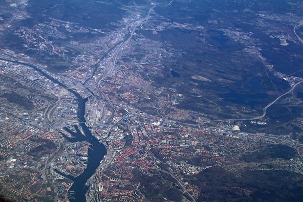 Lufthaufnahme der Stadt Göteborg in Schweden