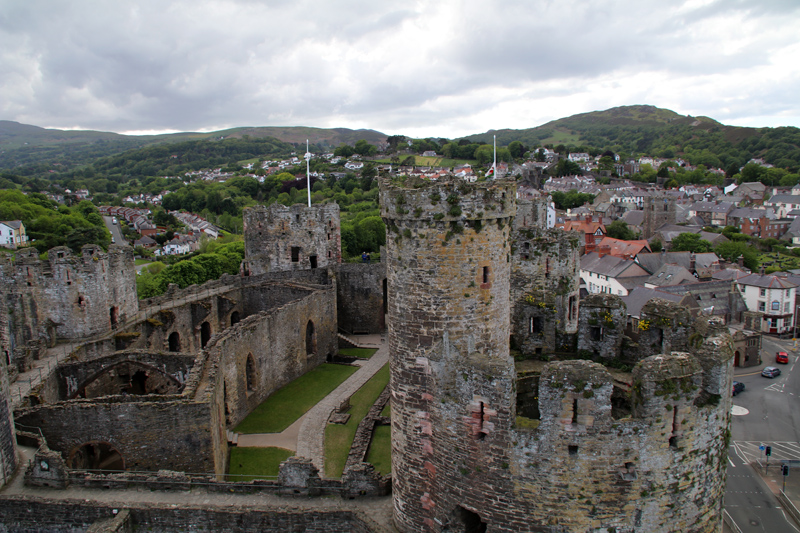 Conwy Castle bietet einen Panoramablick über die Stadt