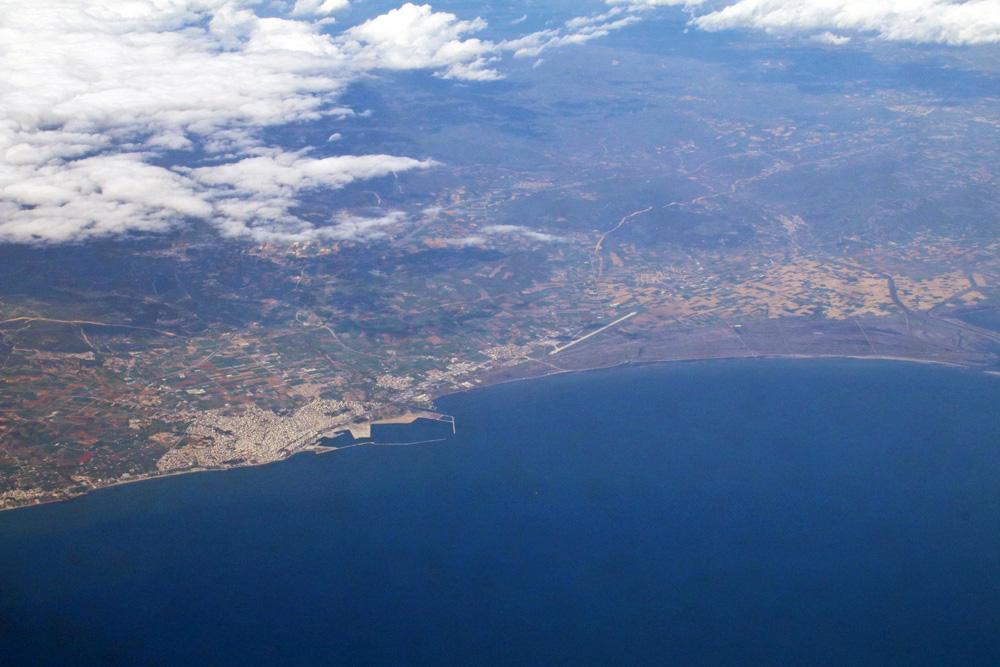 An der griechischen Küste kam erstmals Meer in Sicht