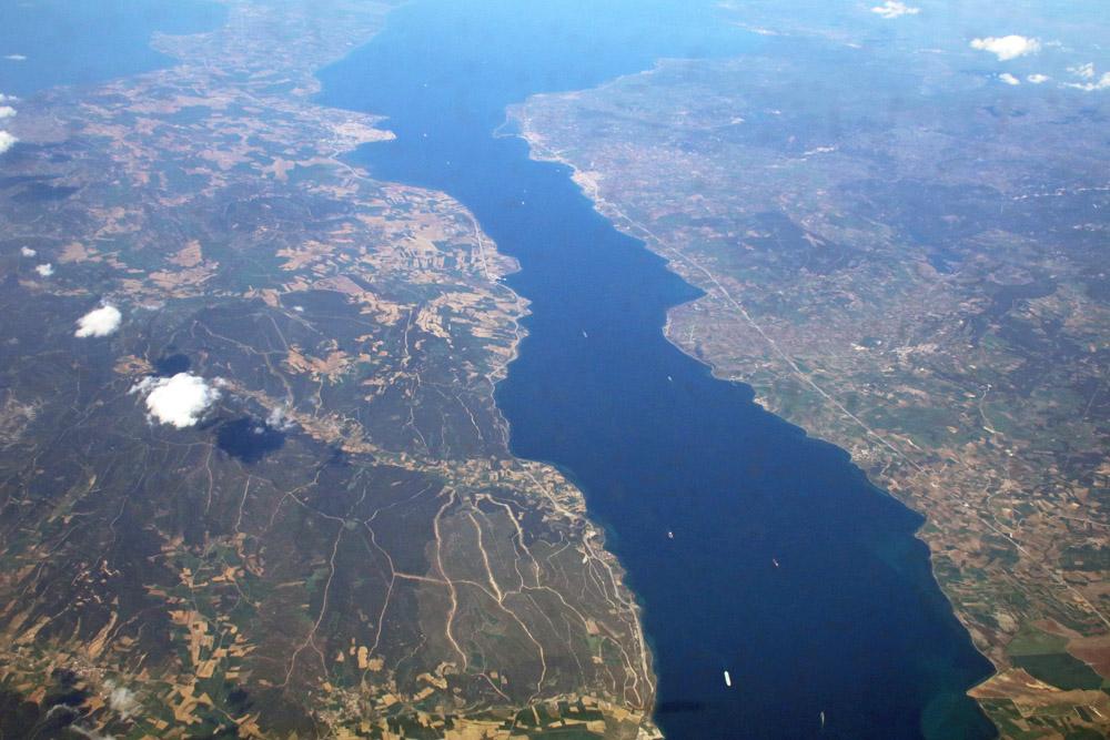 An den Dardanellen war die Türkei auf dem Condor Flug nach Zypern erreicht