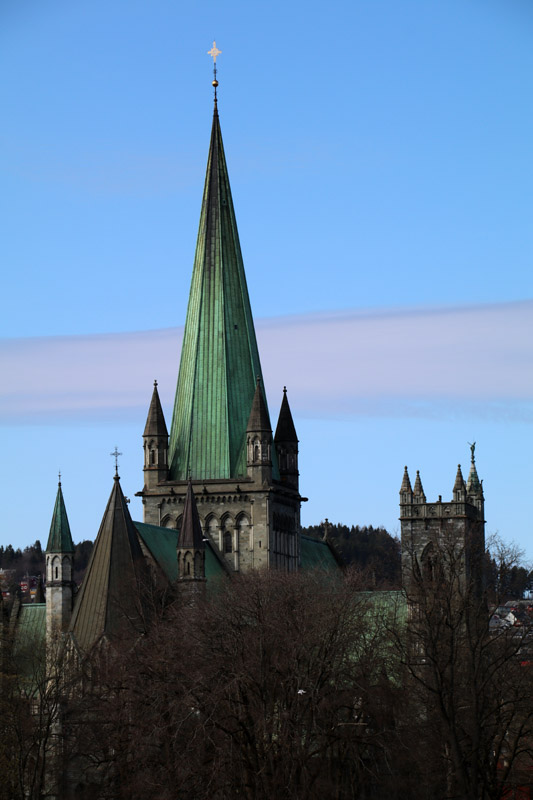Der Nidarosdom in Trondheim in Norwegen