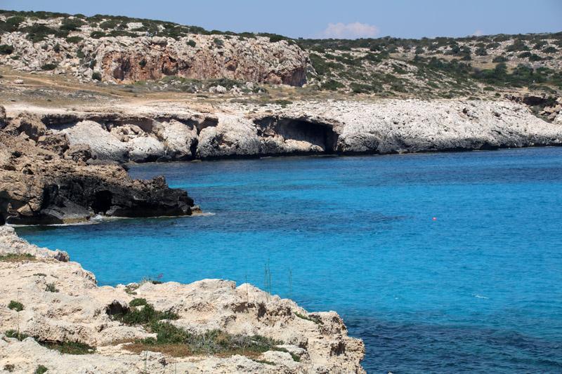Die Blaue Lagune auf Zypern an der Konnos Bucht