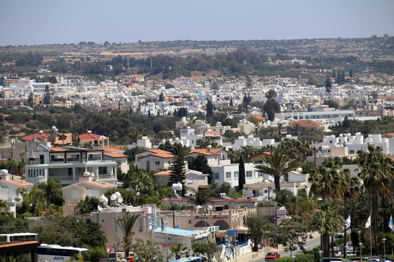 Blick über Ayia Napa auf Zypern