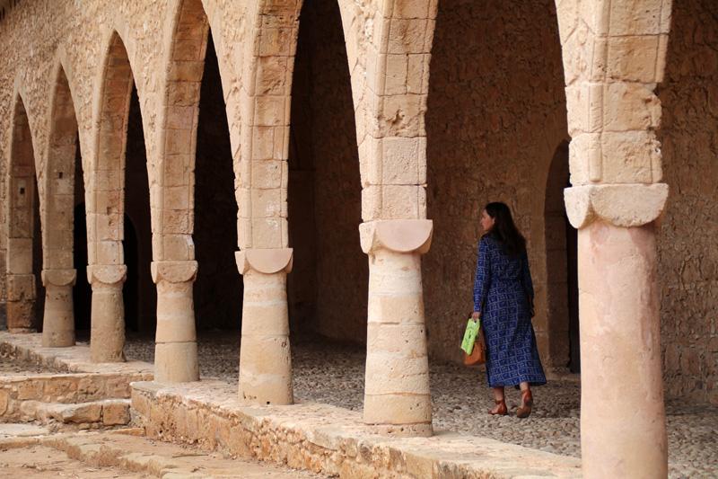 Säulengang im Ayia Napa Kloster auf Zypern