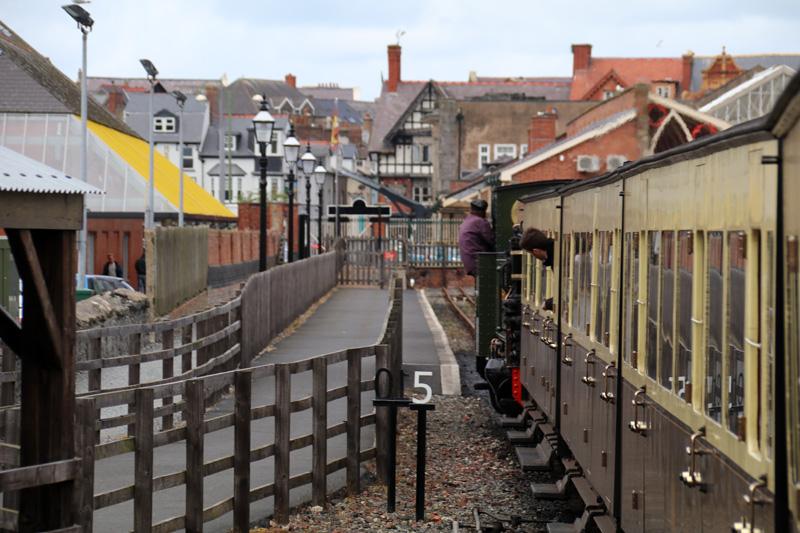 Am Ziel der Vale of Rheidol Railway in Aberystwyth