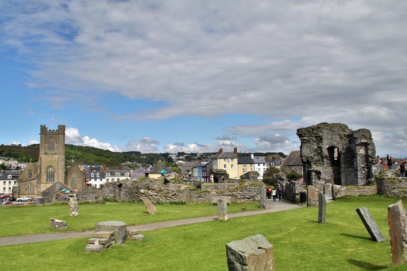 Das Aberystwyth Castle ist größtenteils zerstört