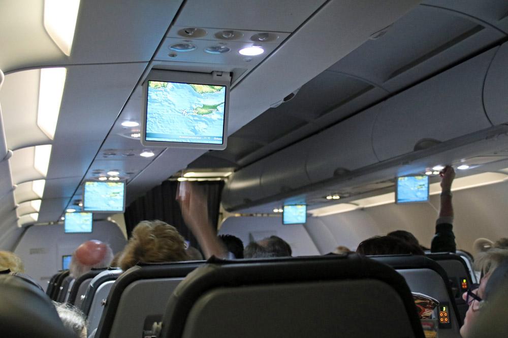 Der Rückflug mit Condor von Zypern war relativ ruhig